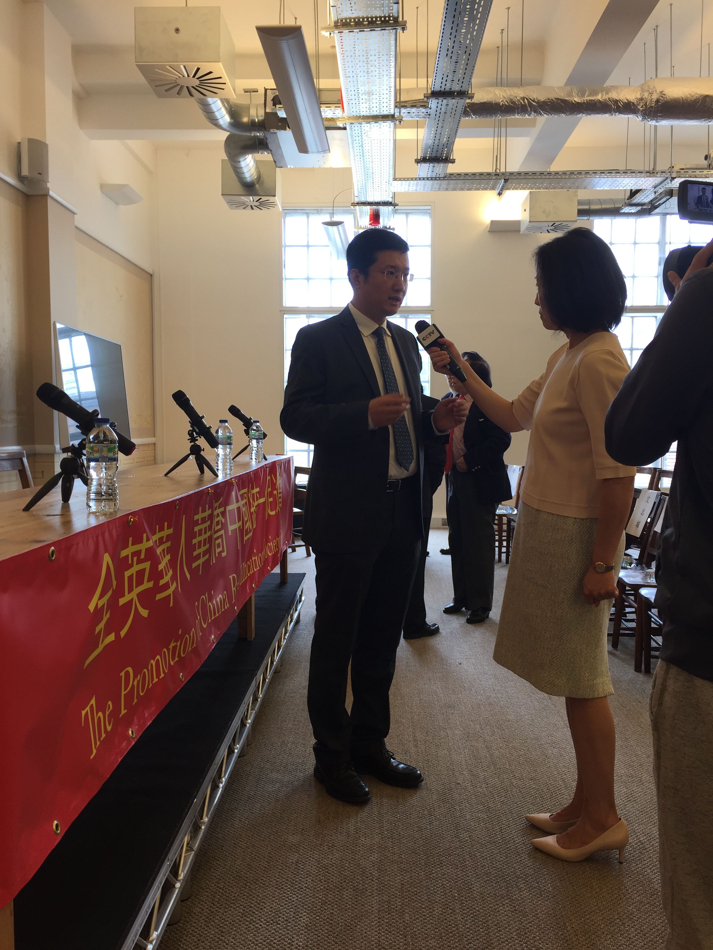 全英华人华侨中国统一促进会常务副会长  刘凯教授接受CCTV采访.JPG