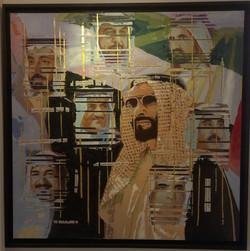 Paper collage art