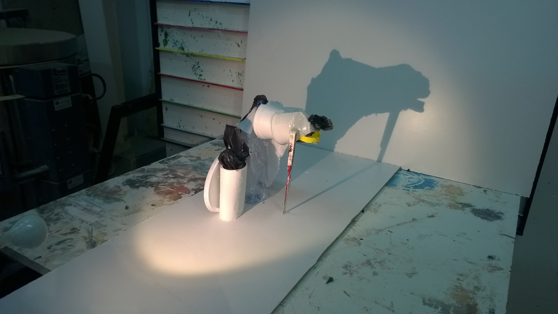 Shadow with recycled material