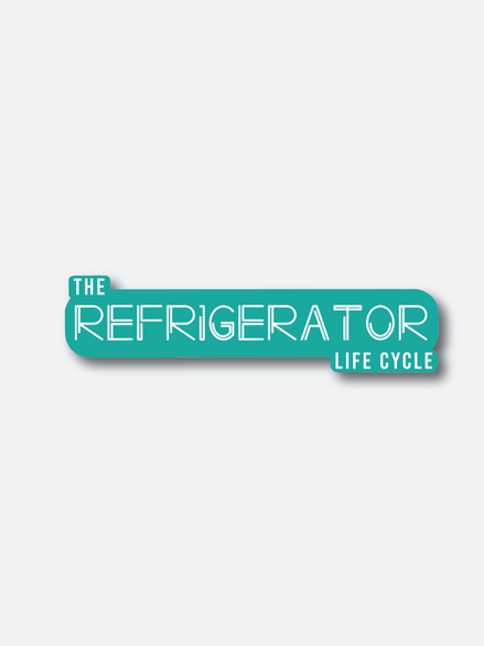 Refrigerator life cycle Infographic