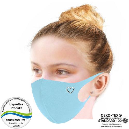 Cool-Comfort-Maske luxury Kinder CM1002-Herz Kontur