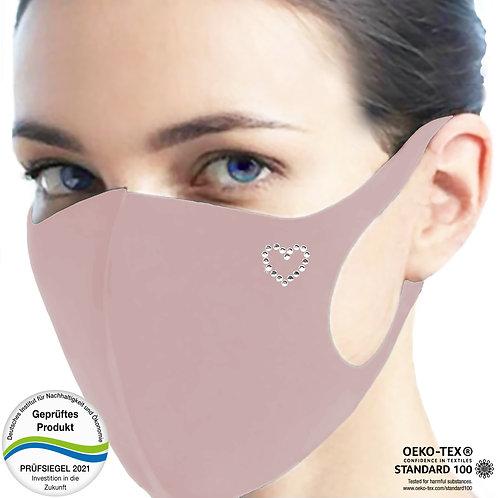 Cool-Comfort-Maske luxury CM1002-Herz Kontur