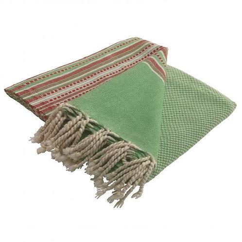 großes miu-Tuch in grün/rot/creme