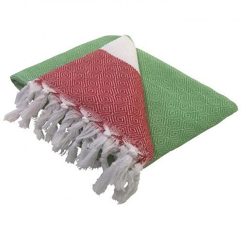 großes miu-Tuch in grün/weiß/rot