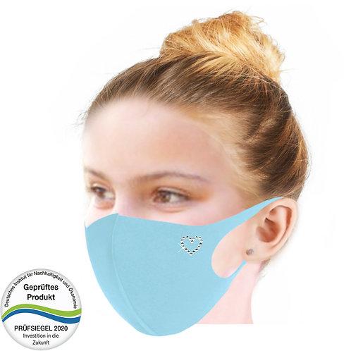 Cool-Comfort-Maske luxury Kinder MK1002-Herz Kontur