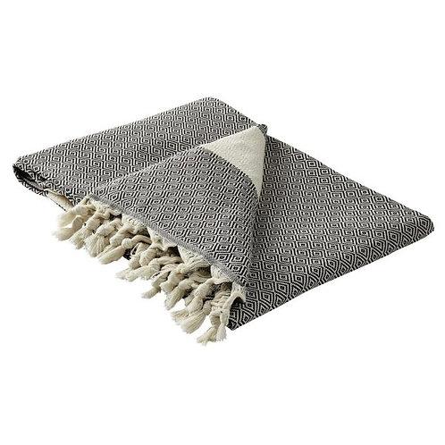 großes miu-Tuch in schwarz/creme