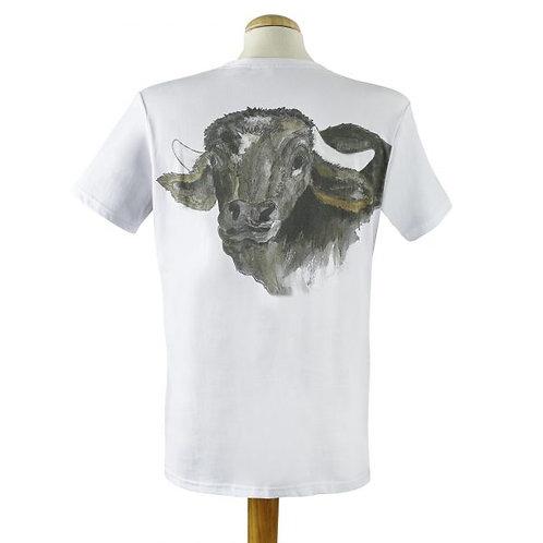 Herren T-Shirt rückseitigem Büffelprint