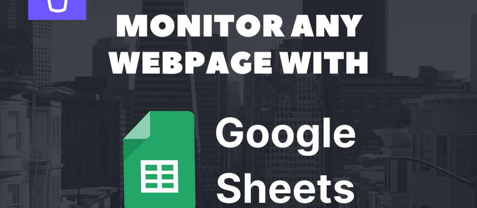How to scrape data from a website to Google Sheets