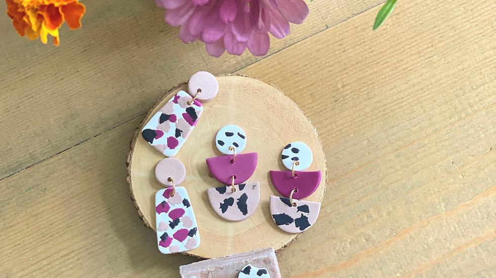 Poly-clay (turnip shade) earrings