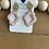 Thumbnail: Poly-clay (pretty blush & gold) earrings