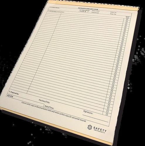 ICS 214 Individual / Activity Log Packet