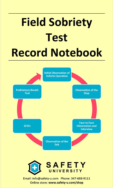 Field Sobriety Test Record Notebook (5pk)
