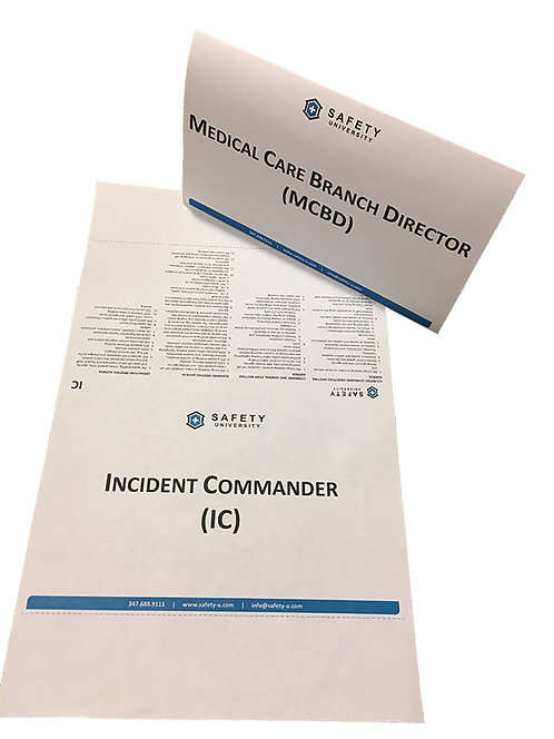 Incident Command System Table Tent Cards