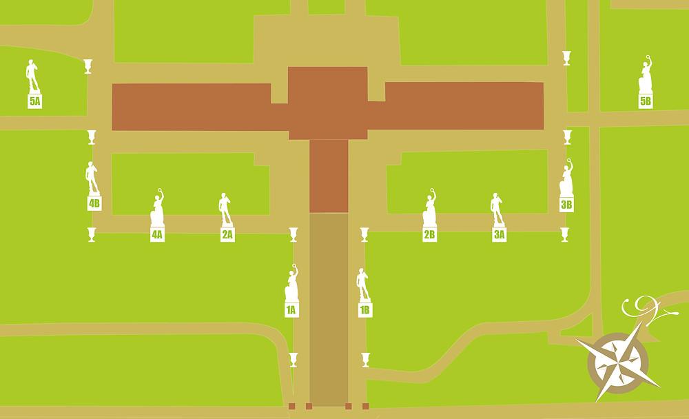 Mappa delle sculture