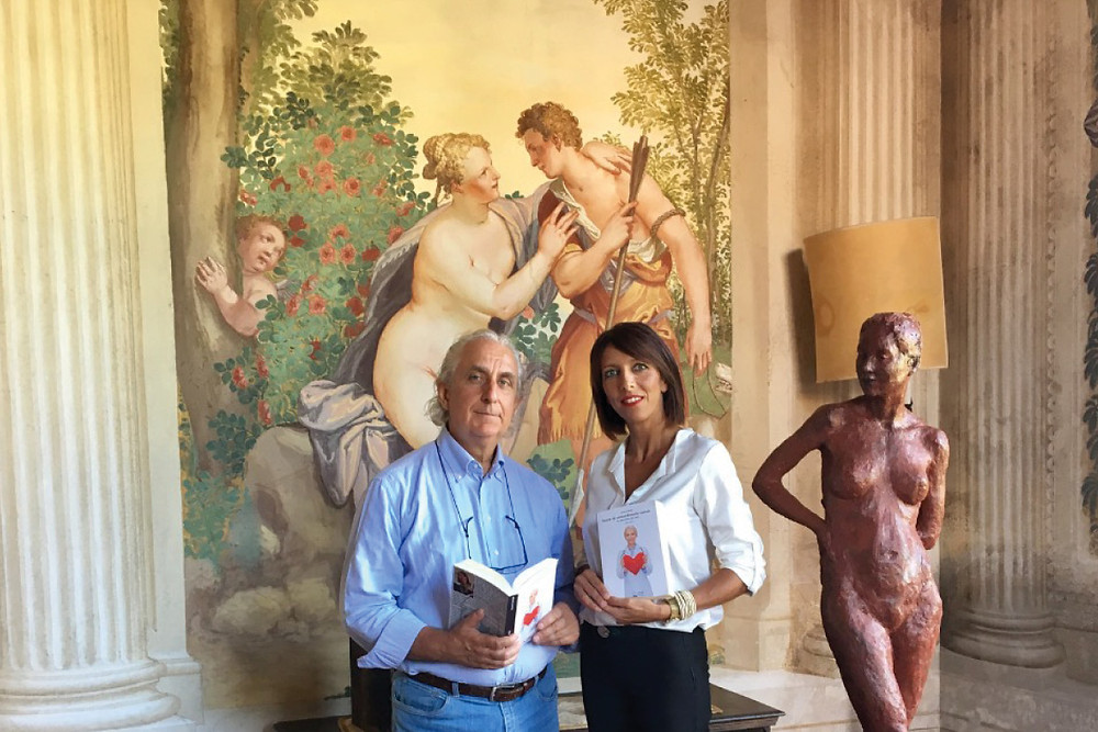 Giancarlo Saran e Fanni Guidolin nella Stanza di Venere a Villa Emo