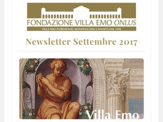 La nuova newsletter di Villa Emo