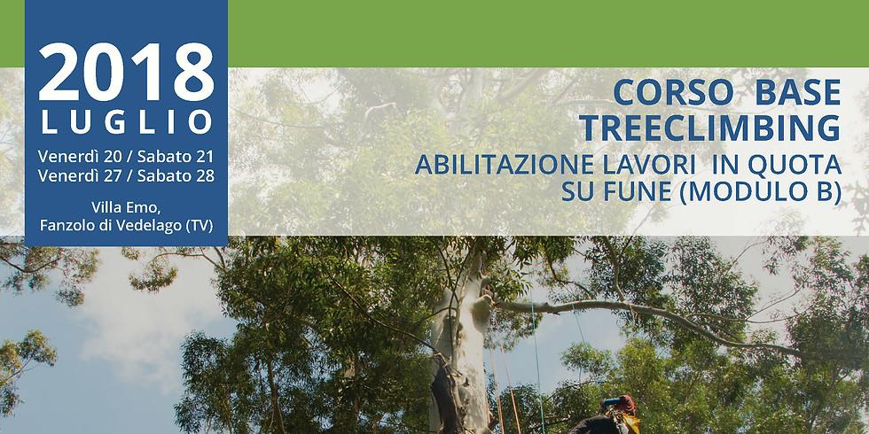 Corso base Treeclimbing – abilitazione lavori in quota su fune (MODULO B)