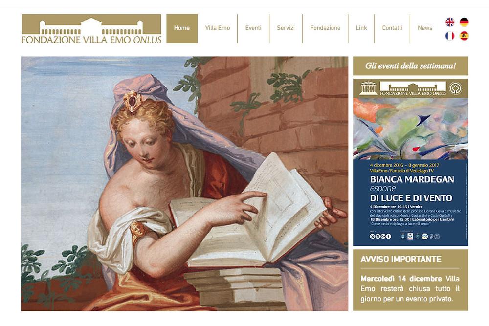 Home page nuovo sito Villa Emo