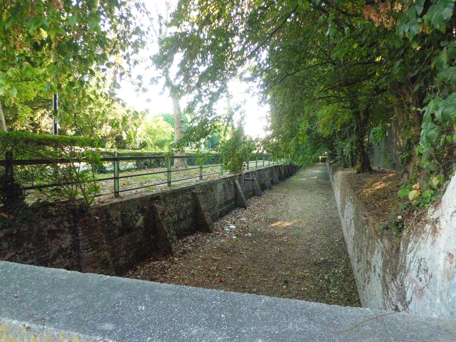 The entrance of Villa Emo