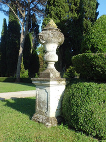 The sculptures in Villa Emo's garden