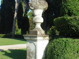 The sculptures in Villa Emo's garden