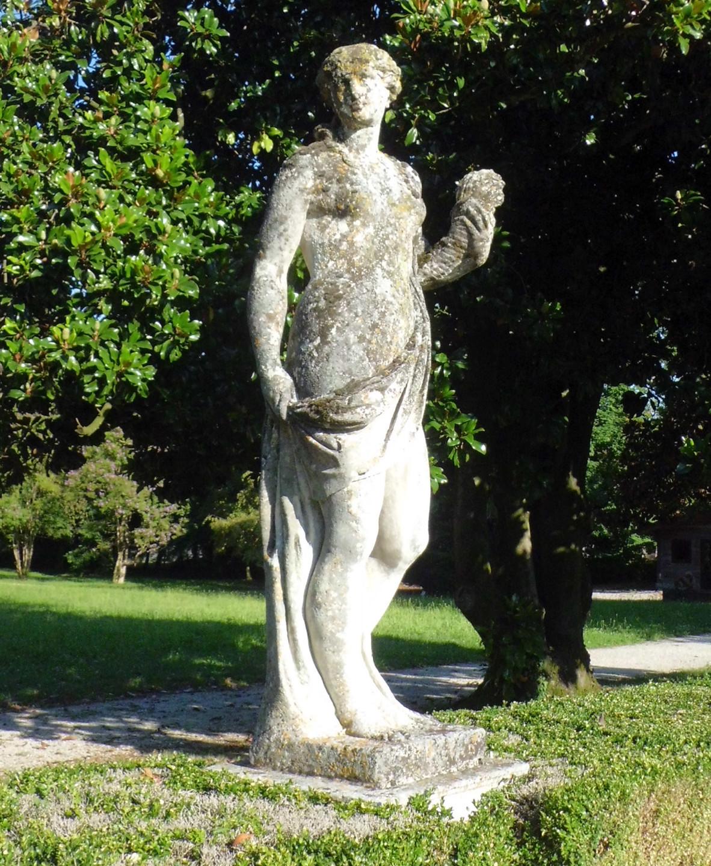 The sculptures in the garden