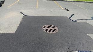 Réparation drain stationnement parking driveway Longueuil