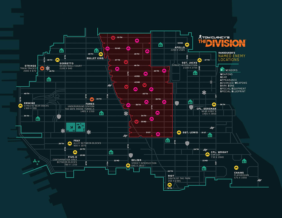 NAMED BOSSES LOCATION THE DIVISION