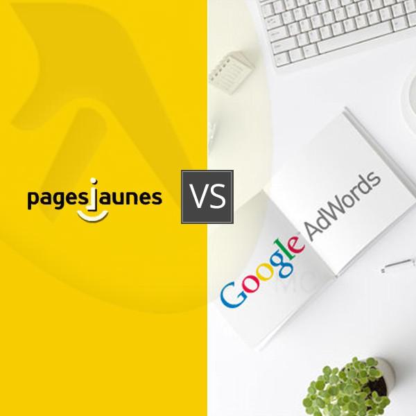 Page Jaunes vs Google Adwords