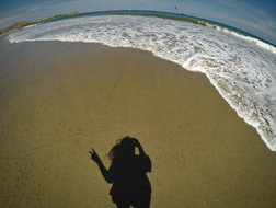 Horko písek voda