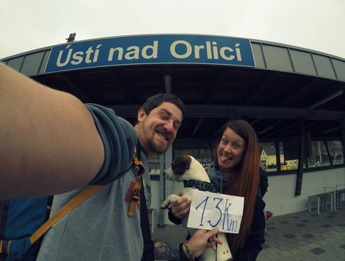 Vyjíždíme z Ústí směr Prahaaa 0-13km