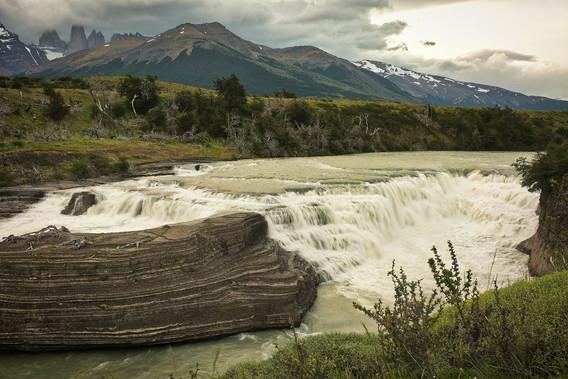 Torres del Paine a vodopád