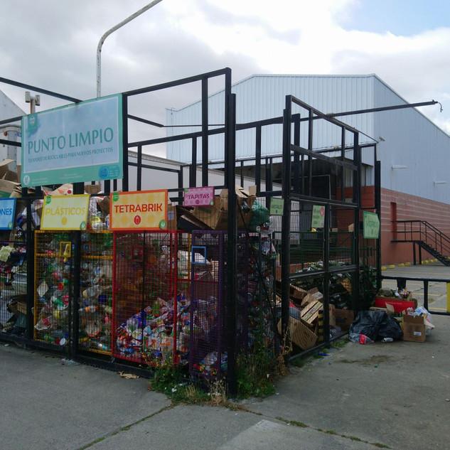 Třídící stanice v Esquelu v Argentině