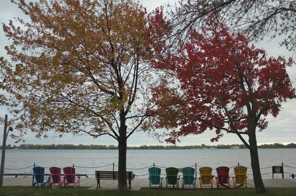 Podzim u jezera Ontario