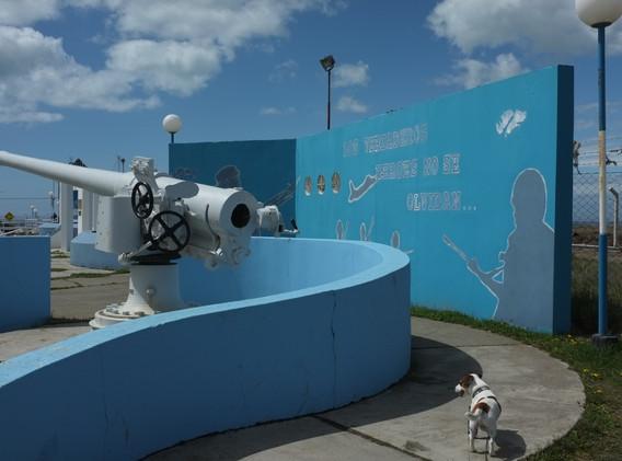 Válečný památník v Riu Grande na památku války o Malvíny
