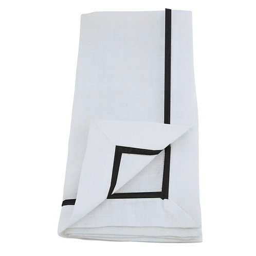 Onix Collection - Embroidered Line Design Napkin   Set of 4