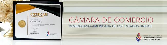 """IMA´S CUISINE: MIEMBRO CORPORATIVO DE LA """"VENEZUELAN-AMERICAN CHAMBER OF COMMERCE OF THE UNITED"""