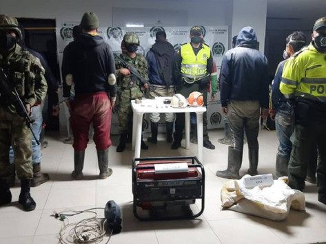 Capturan 11 personas por minería ilegal en el Páramo de Santurbán