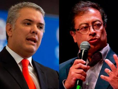 SUBE FAVORABILIDAD DE PRESIDENTE DUQUE Y PETRO LIDERA INTENCIÓN DE VOTO 2022