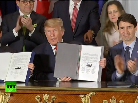 EE.UU, México y Canadá firman un nuevo acuerdo comercial