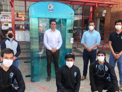 Primera cabina de desinfección con ozono en Boyacá