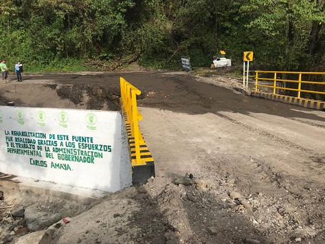 Puente que comunica La Uvita y San Mateo ya está en funcionamiento