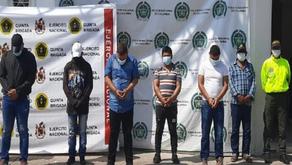 Capturados seis integrantes del Clan del Golfo que delinque en Santander