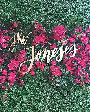 flower wall custom sign chicago
