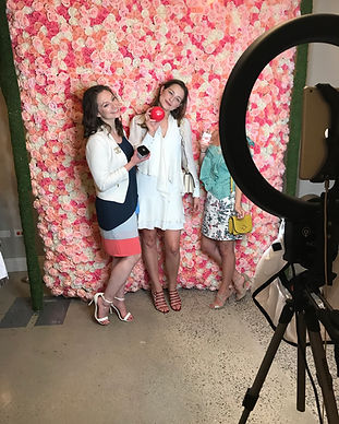 flower wall photo booth chicago