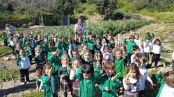 Visita al huerto escolar