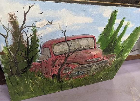 Red Truck Wall Art