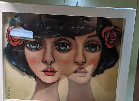 Two Faced Lady 3D Wall Art