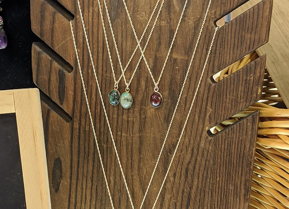 Small Hand-Cut Gemstone Pendants