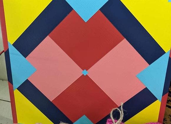 Shadow Diamond Barn Quilt Wall Art